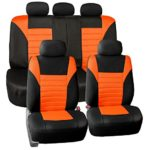 FH GROUP FH-FB068115 Premium 3D Air Mesh Seat Covers Full Set (Airbag & Split Ready), Orange / Color- Fit Most Car, Truck, Suv, or Van