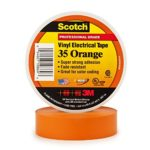 3M Scotch #35 Electrical Tape 10869-BA-5, 3/4-Inch by 66-Foot by 0.007-Inch, Orange
