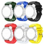 Gear S3 Frontier/ S3 Classic Bands,DATOtech [6-PACK] 22MM Soft Silicone Replacement Sport Strap Rubber Band for Samsung Gear S3 Frontier/ S3 Classic/ Moto 360 2nd Gen 46mm Smart Watch (A-6 Colours)