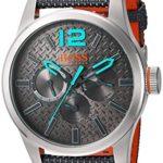BOSS Orange Men's Quartz Stainless Steel and Resin Watch, Color:Grey (Model: 1513379)