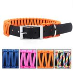 SOMA Paracord Dog Collar Adjustable Pet Collars with Buckle for Medium Large Dogs 4 Colors(Orange)