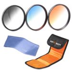 52mm graduated nd filter, K&F Concept 52mm Slim Graduated Color Lens Filter Kit Neutral Density(ND4) Orange Blue lens Filters Set For Nikon DSLR Cameras + Filter Pouch