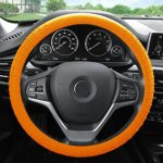 FH GROUP FH3002 Silicone w. Nibs & Pattern (Massaging grip) Steering Wheel Cover, Orange Color -Fit Most Car, Truck, Suv, or Van