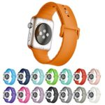 Hontao Silicone Sport Replacement Smart iWatch Band Strap for Apple Watch Series 1 Series 2 (orange 42mm)