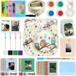 Katia 11 Piece of Fujifilm Instax Mini 8 Accessories (Case/ Albums/ Close Up Lens/ Filters/ Stickers/ Frame/ Cleaning Cloth/ Pen/ Photo Holder) for Fujifilm Instax mini 8/ 8+/ 9 Camera (Owls)