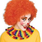 Unisex Afro Wig/ Assorted Color Clown Wigs, Orange, One Size