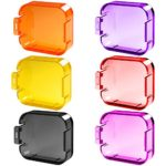 6 Pack Diving Lens Filters for GoPro Hero 5, FineGood Color Correction Compensation Filters for Underwater Video Photography Filming for Hero5 Sport Action Camera – Red Yellow Purple Pink Orange Grey