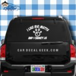 I Like Big Mutts and I Cannot Lie Funny Vinyl Decal Sticker for Car Truck Window Laptop Macbook Wall Cooler Tumbler   Die-cut/No Background   Multiple Sizes and Colors , 8-Inch , Orange