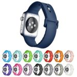 Hontao Silicone Sport Replacement Smart iWatch Band Strap for Apple Watch Series 1 Series 2 (midnight blue 42mm)