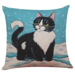 Howstar Cute Cat Home Decoration Pillow Cover Sofa Bed Throw Pillowcase (A)