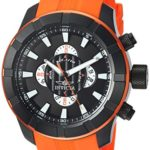 Invicta Men's 'S1 Rally' Quartz Stainless Steel and Silicone Casual Watch, Color:Orange (Model: 18614)