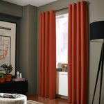 Midwest (WC86) Different Colors and Sizes1 Panel Drape Window Treatment Curtain Thermal Insulated White Coating Blackout Antique Grommets Solid Color (63″ SHORT, ORANGE)