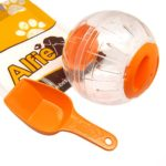 Alfie Pet by Petoga Couture – Kerry Run-About Small Animal Exercise Ball with Food Scoop Set for Small Animals like Dwarf Hamster and Mouse – Color: Orange, Size: Large (6 inches)