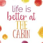 Life Is Better at the Cabin (6×9 Journal): Lined Writing Notebook, 120 Pages — Bright Multicolored Pink, Coral, Purple, Orange, Yellow Watercolor Dots
