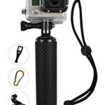 ProFloat Waterproof Floating Hand Grip compatible with GoPro Cameras Hero 5 Session Black Silver Hero 2 3 3+ 4. Handler & Handle Mount Accessories Kit & Water Sport Floaty for Action Camera (Orange)