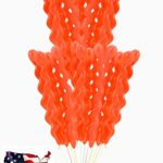 45″ ORANGE Color Spiral Balloons Screw Shaped Wedding Balloon,Party Balloon,Birthday Party,Decoration **USA SELLER**(jarty Party Brand)