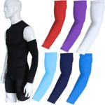 COOLOMG (1 Pair) Compression Arm Sleeves for Basketball Football Baseball and Other Activities, 30+ colors,Youth & Adult Sizes Available