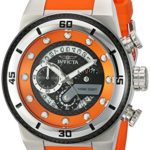 Invicta Men's 'S1 Rally' Quartz Stainless Steel and Silicone Casual Watch, Color:Orange (Model: 24222)