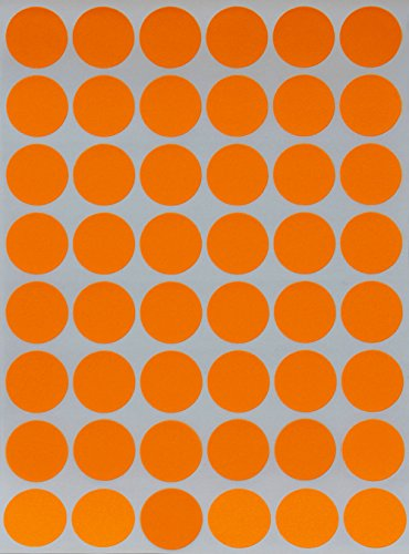 Round Colored Dots Sticker Neon Orange Color Coding Labels Great To Use In Your Office Cl Storage Etc Teachers Students Kidore