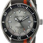 Nautica Men's 'PORTOFINO' Quartz Stainless Steel and Nylon Casual Watch, Color:Orange (Model: NAPPRF003)